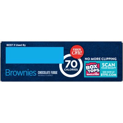Fiber One Brownies, Chocolate Fudge, 70 Calorie Bar, 5 Net Carbs, Snacks, 6 Count