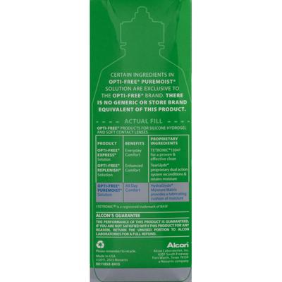 OPTI-FREE Puremoist Milti-Purpose Disinfecting Solution All Day Comfort Twin Pack