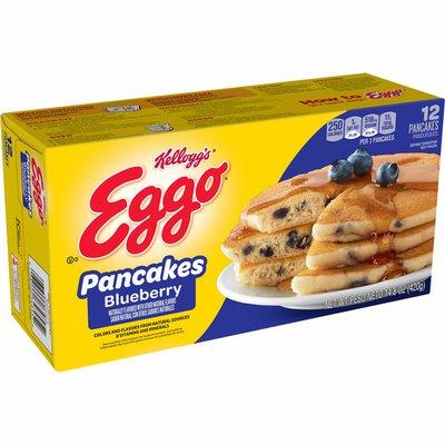Kellogg's Eggo Frozen Pancakes, Easy Breakfast, Blueberry
