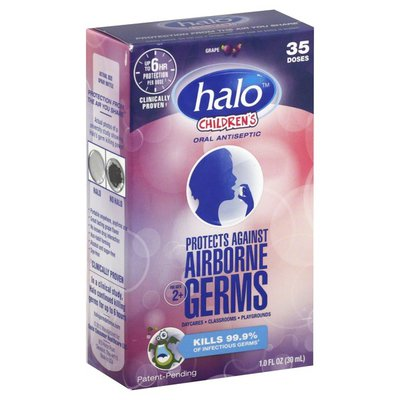 Halo Oral Antiseptic, 6 Hr, Spray, Grape