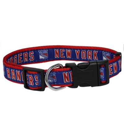 Pets First Large NHL New York Rangers Collar for Dogs & Cats