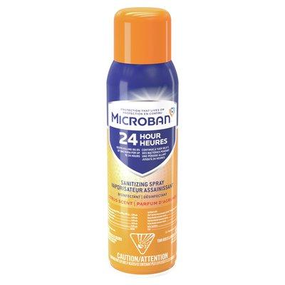 Microban 24 Hour Disinfectant Sanitizing Spray, Citrus Scent