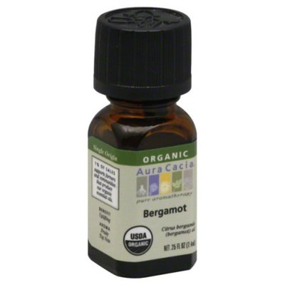 Aura Cacia Organic Bergamot Inspiring Pure Essential Oil