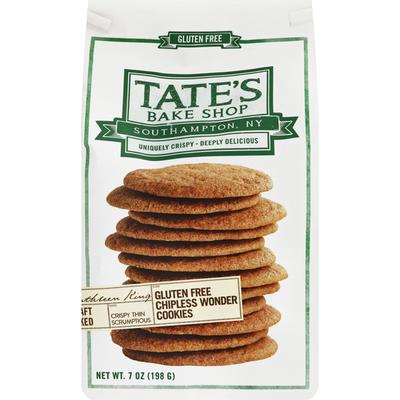 Tate's Bake Shop Cookies, Gluten Free, Chipless Wonder