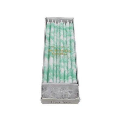 Meri Meri Mint Marbled Candles