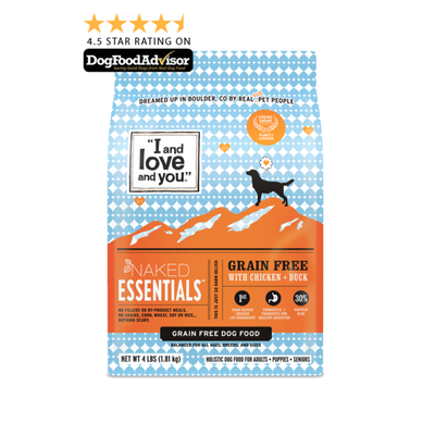 """""""I and love and you"""" Naked Essentials - Dry Dog Food - Chicken & Duck"""