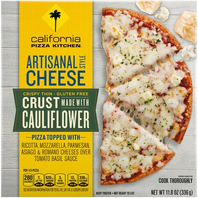 California Pizza Kitchen Artisanal Style Cheese Frozen Pizza with Cauliflower Pizza Crust