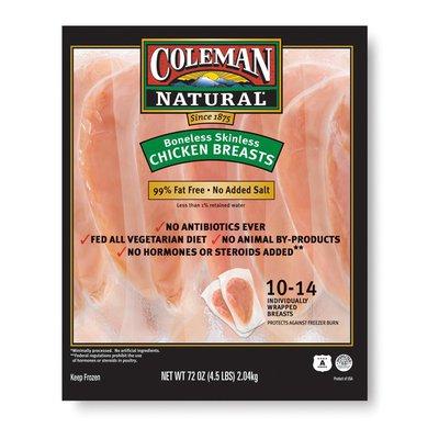 Coleman Natural Foods Boneless Breasts