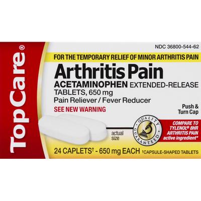 TopCare Arthritis Pain, 650 mg, Caplets