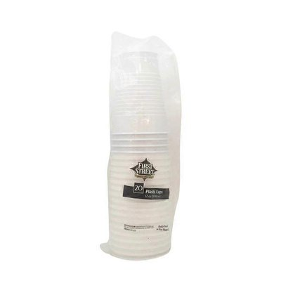 First Street Artstyle White Plastic Cup 12 Oz