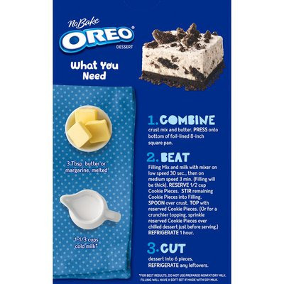 Jell-O Oreo Dessert Kit with Filling Mix, Crust Mix & Cookie Pieces