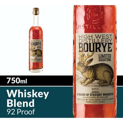 High West Distillery Bourye Whiskey