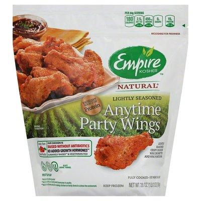 Empire Kosher Party Wings, Anytime, Lightly Seasoned