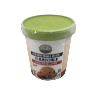 Open Nature Coffee Caramel Fudge Flavored Plant Based Almond Non-dairy Frozen Dessert