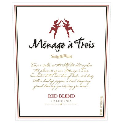 Menage a Trois California Red Blend Red Wine