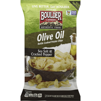 Boulder Canyon Potato Chips, Kettle Cooked, Olive Oil