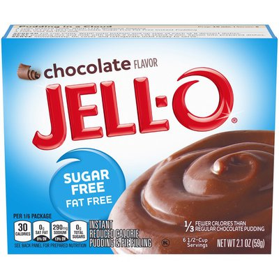Jell-O Instant Chocolate Sugar Free Fat Free Pudding & Pie Filling Mix
