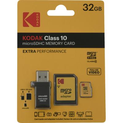 Kodak Memory Card, Class 10, MicroSDHC, 32GB