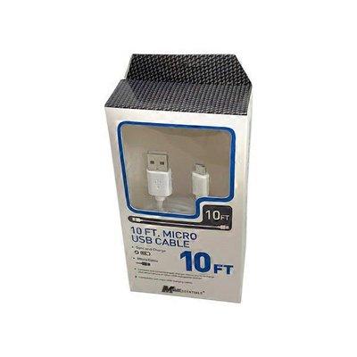 Mobile Essentials 10' White USB Cable