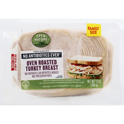 Open Nature Turkey Breast, Oven Roasted, Family Size