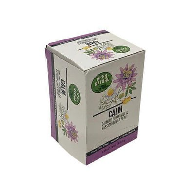 Open Nature Calm Calming Chamomile & Passionflower Herb Caffeine Free Herbal Supplement Tea Bags