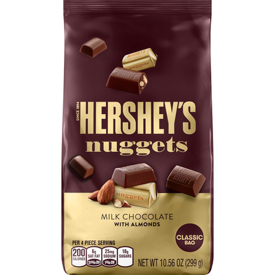 Hershey Nuggets, with Almonds, Classic Bag