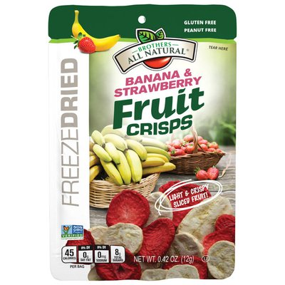 Brothers All Natural Freeze-Dried Banana & Strawberry Fruit Crisps