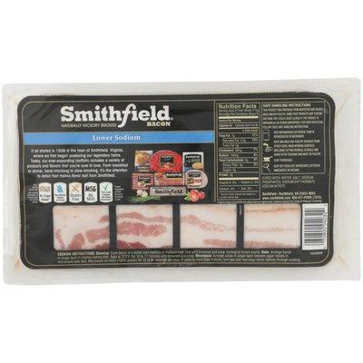 Smithfield Naturally Hickory Smoked Bacon, Lower Sodium