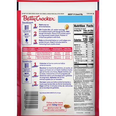 Betty Crocker Peanut Butter Cookie Mix