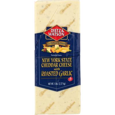 Dietz & Watson Roasted Garlic Cheddar Cheese