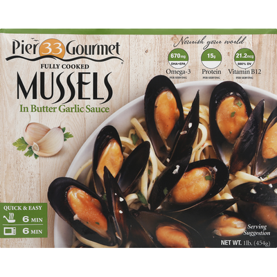 Pier 33 Gourmet Mussels, in Butter Garlic Sauce
