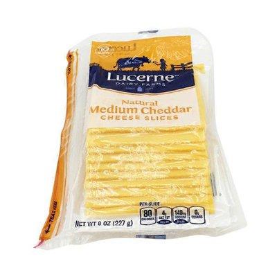 Lucerne Medium Cheddar Cheese Slices