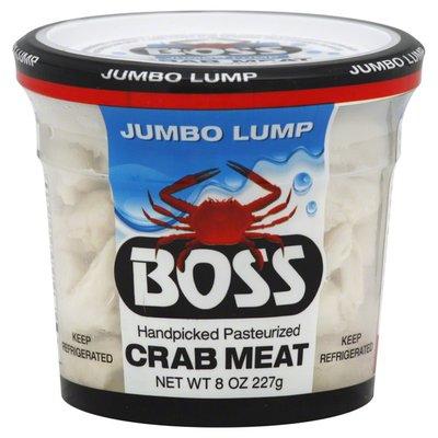 Boss Crab Meat, Handpicked, Jumbo Lump