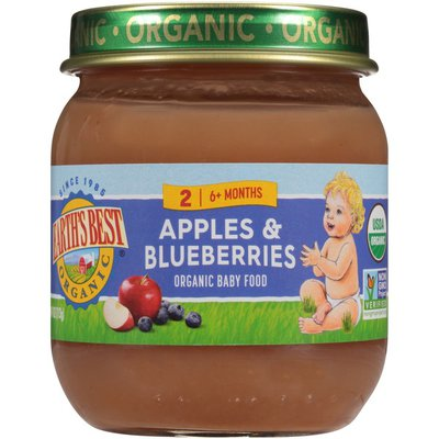Earth's Best Stage 2 Apples & Blueberries Organic Baby Food