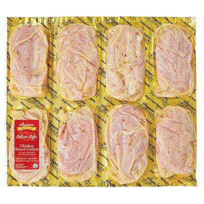Wegmans Italian Marinated Boneless Chicken Breast Cutlets, FAMILY PACK