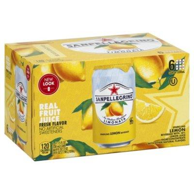 San Pellegrino Lemon Italian Sparkling Drinks
