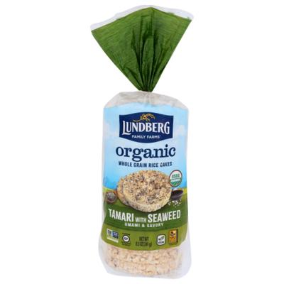Lundberg Family Farms Organic Rice Cakes Tamari with Seaweed