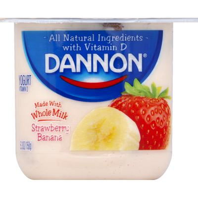 Dannon Whole Milk Strawberry Banana Yogurt