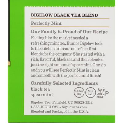 Bigelow Tea, Perfectly Mint, Classic, Tea Bags
