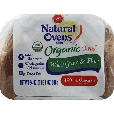 Natural Ovens Bakery Organic Whole Grains & Flax Bread