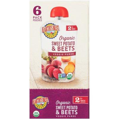 Earth's Best Stage 2 Sweet Potato & Beets Organic Veggie Puree