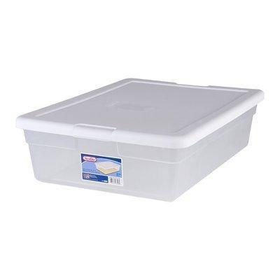 Sterilite Storage Box 28 Qt. White