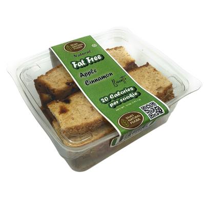 DIJAS Natural Foods Apple Cinnamon Biscotti, Fat-Free