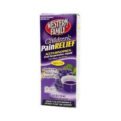 Western Family Children's Pain Relief Acetaminophen Grape Flavor