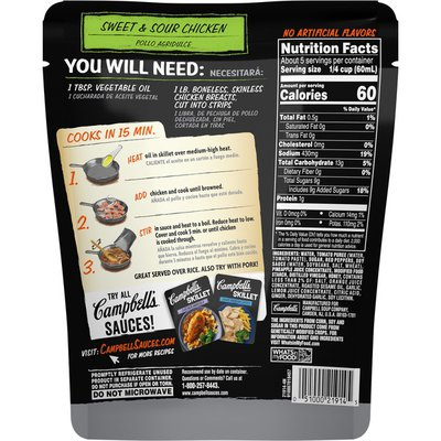 Campbell's® Skillet Sauces Sweet & Sour Chicken Sauce