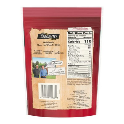 Sargento® Off The Block Fine Cut Shredded Sharp Cheddar Cheese