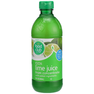 Food Club 100% Lime Juice From Concentrate