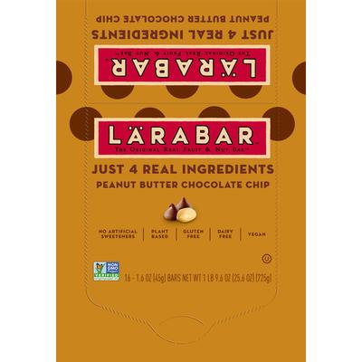 Larabar Gluten Free Bar, Peanut Butter Chocolate Chip, Vegan, 16 Bars