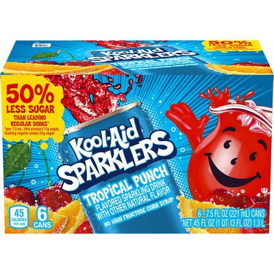 Kool-Aid Sparklers Tropical Punch Flavored Sparkling Drink