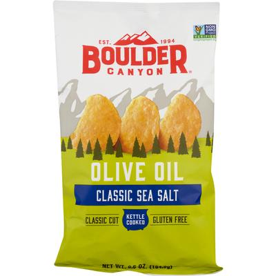 Boulder Canyon Potato Chips, Classic Sea Salt, Olive Oil, Classic Cut